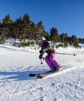Skigebieden bergafwaarts