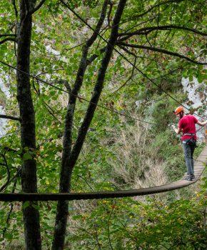 Parcours aventure en Ariège, entre via ferrata et accrobranche